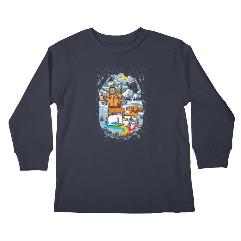 Unicorn Season Kids Longsleeve T-Shirt by Made With Awesome