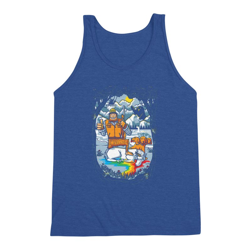 Unicorn Season Men's Triblend Tank by Made With Awesome