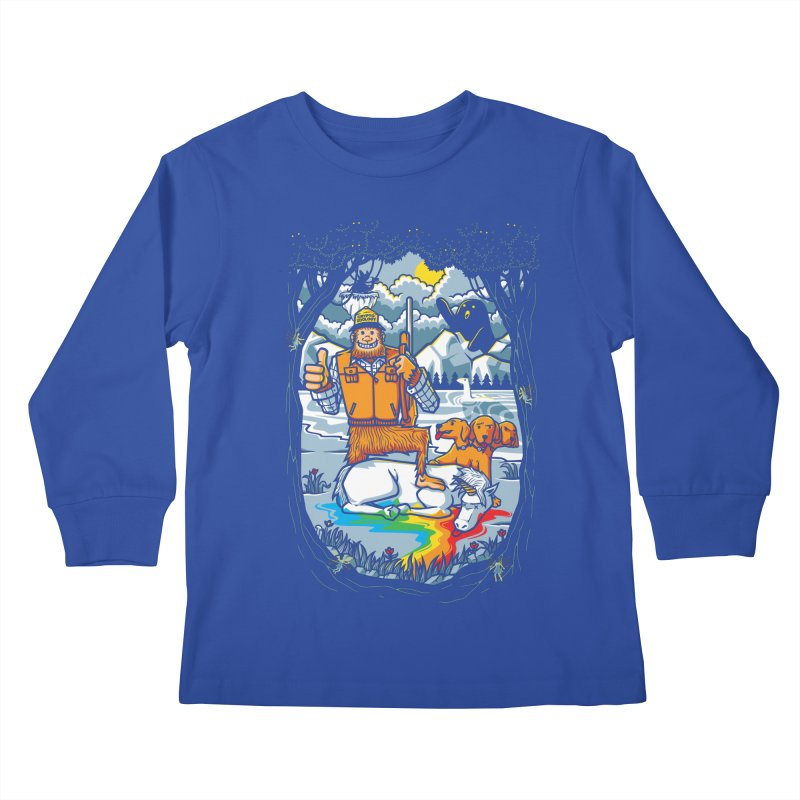 Unicorn Season Kids Longsleeve T-Shirt by Made With Awesome