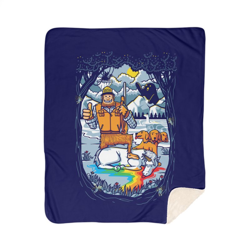 Unicorn Season Home Sherpa Blanket Blanket by Made With Awesome