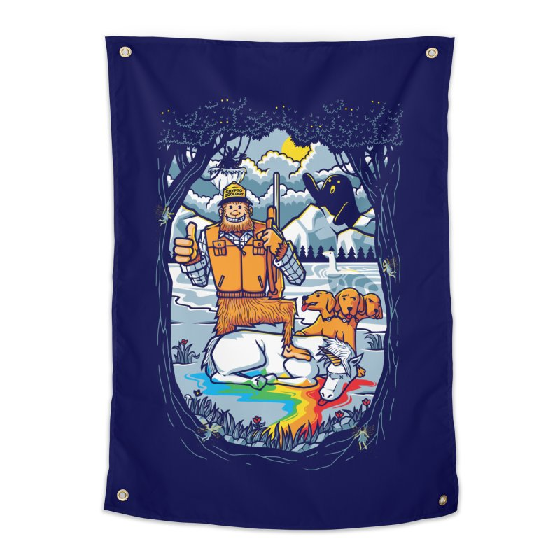 Unicorn Season Home Tapestry by Made With Awesome