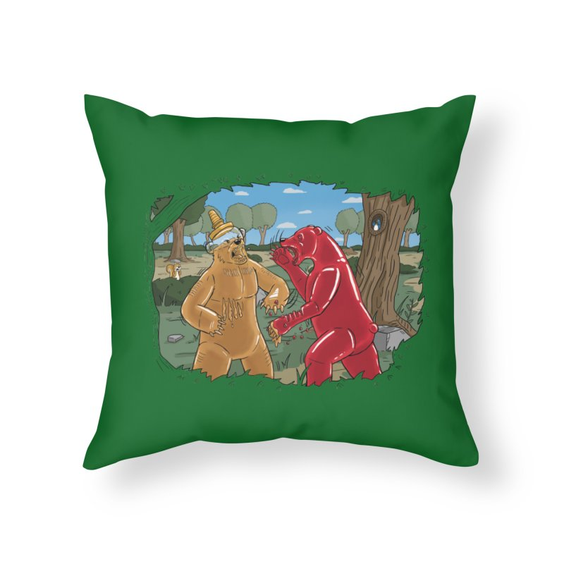 Honey vs Gummy Home Throw Pillow by Made With Awesome