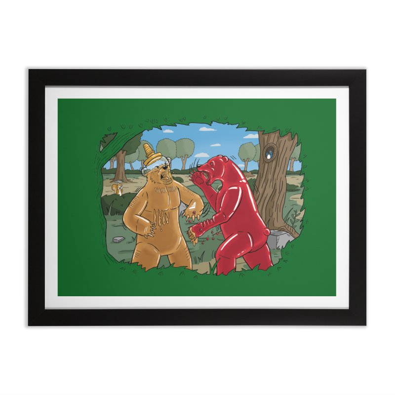 Honey vs Gummy Home Framed Fine Art Print by Made With Awesome