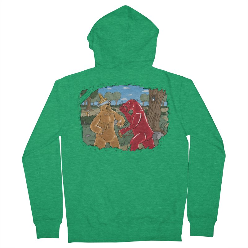Honey vs Gummy Men's French Terry Zip-Up Hoody by Made With Awesome