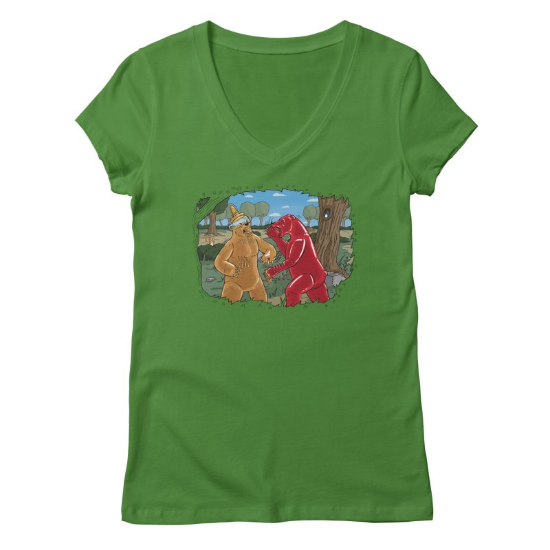 Honey vs Gummy Women's V-Neck by Made With Awesome