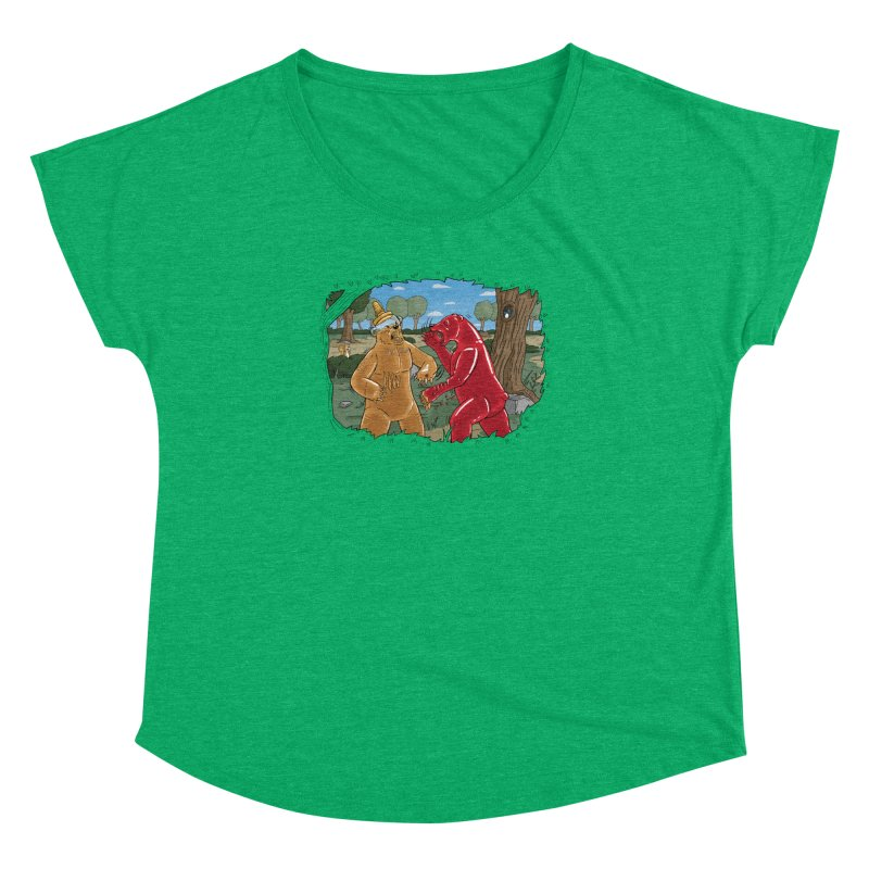 Honey vs Gummy Women's Dolman Scoop Neck by Made With Awesome