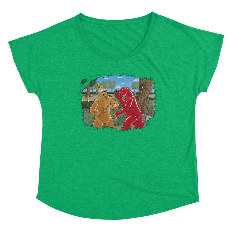 Honey vs Gummy Women's Scoop Neck by Made With Awesome