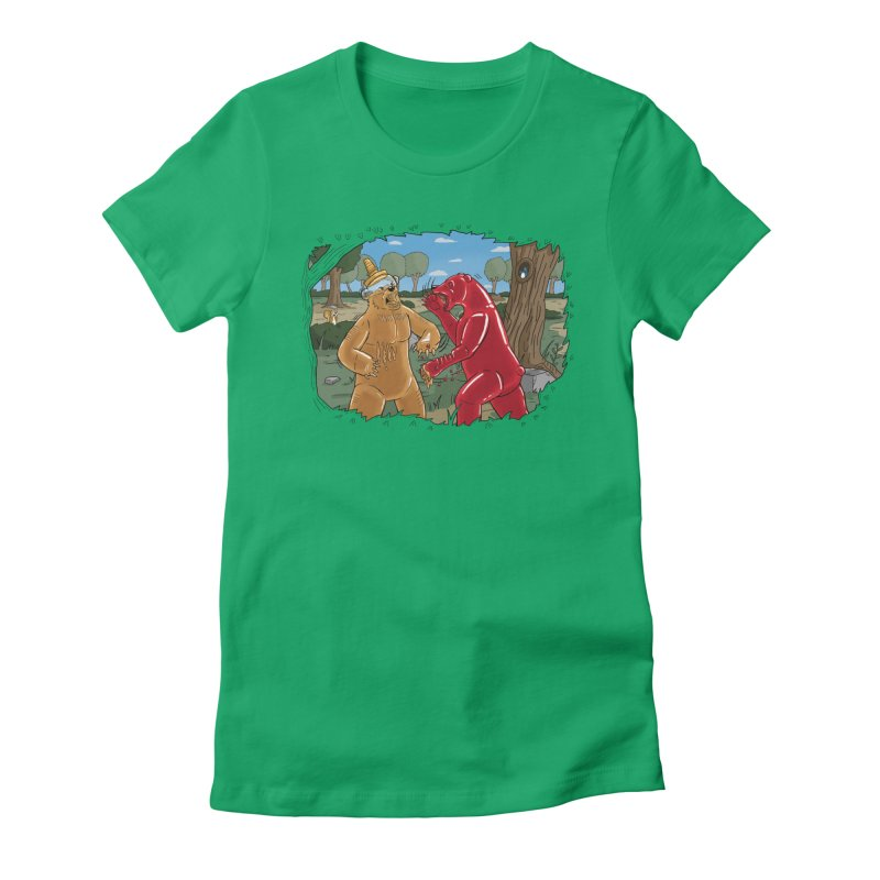 Honey vs Gummy Women's Fitted T-Shirt by Made With Awesome
