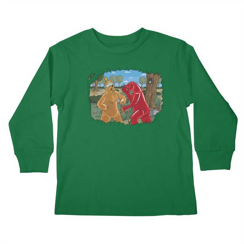 Honey vs Gummy Kids Longsleeve T-Shirt by Made With Awesome