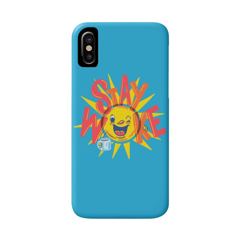 Stay Woke Accessories Phone Case by Made With Awesome