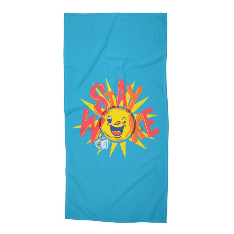 Stay Woke Accessories Beach Towel by Made With Awesome