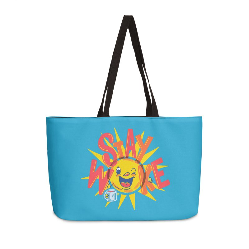 Stay Woke Accessories Weekender Bag Bag by Made With Awesome