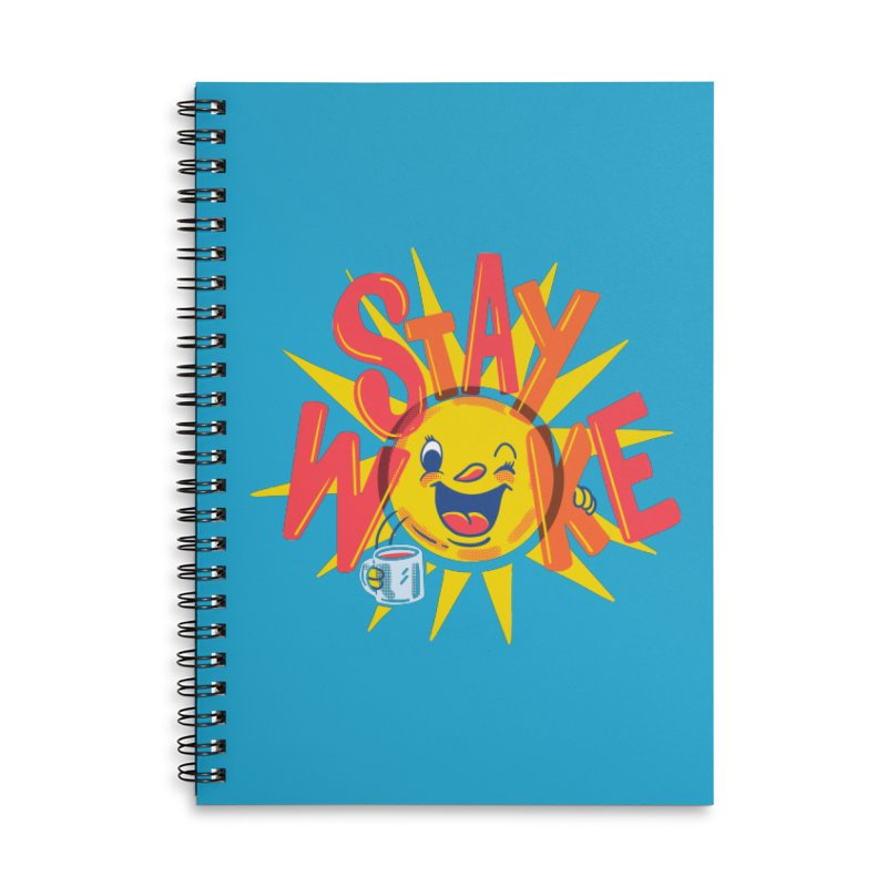 Stay Woke Accessories Lined Spiral Notebook by Made With Awesome