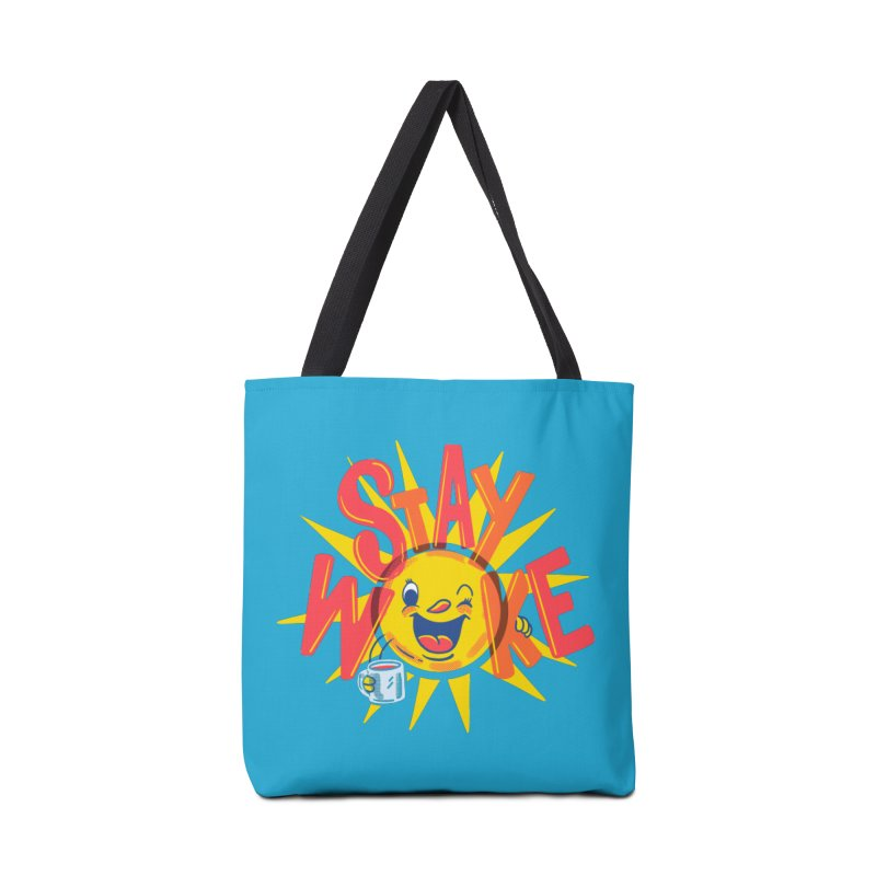 Stay Woke Accessories Tote Bag Bag by Made With Awesome