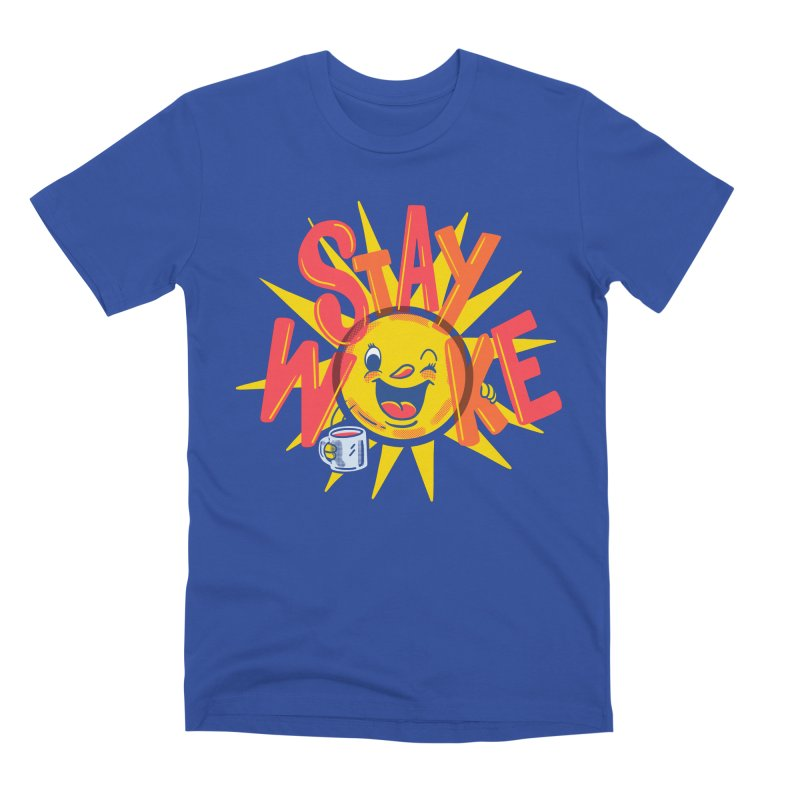 Stay Woke Men's Premium T-Shirt by Made With Awesome