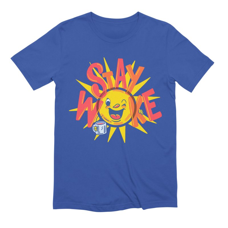 Stay Woke Men's Extra Soft T-Shirt by Made With Awesome