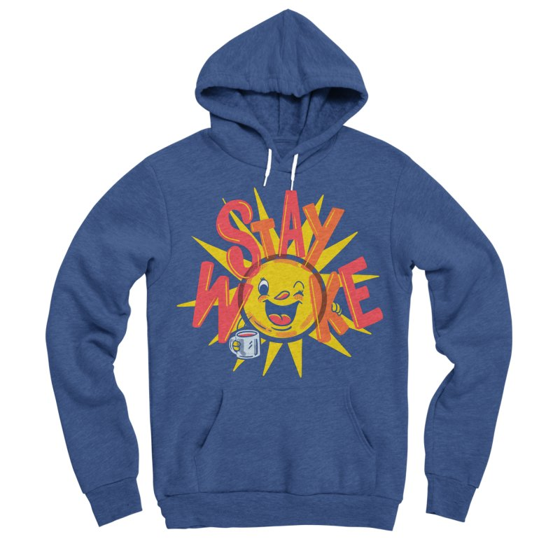 Stay Woke Men's Sponge Fleece Pullover Hoody by Made With Awesome