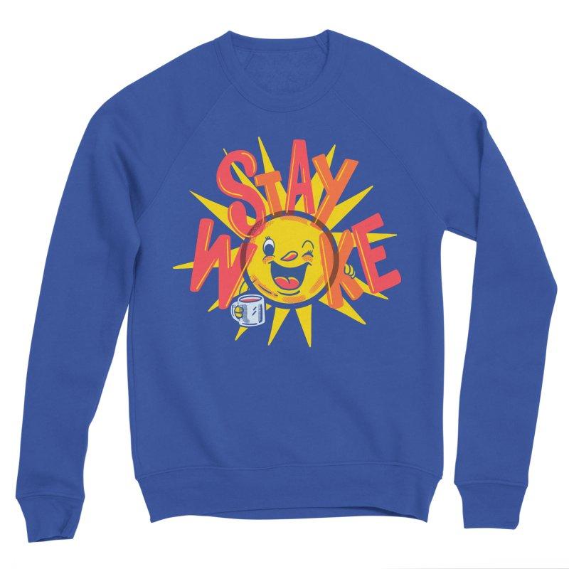 Stay Woke Men's Sponge Fleece Sweatshirt by Made With Awesome