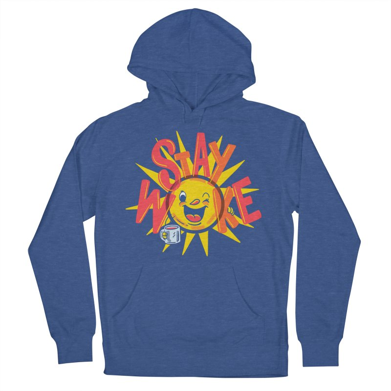 Stay Woke Men's French Terry Pullover Hoody by Made With Awesome