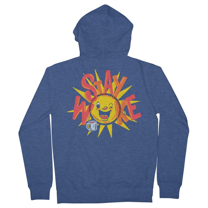 Stay Woke Men's French Terry Zip-Up Hoody by Made With Awesome