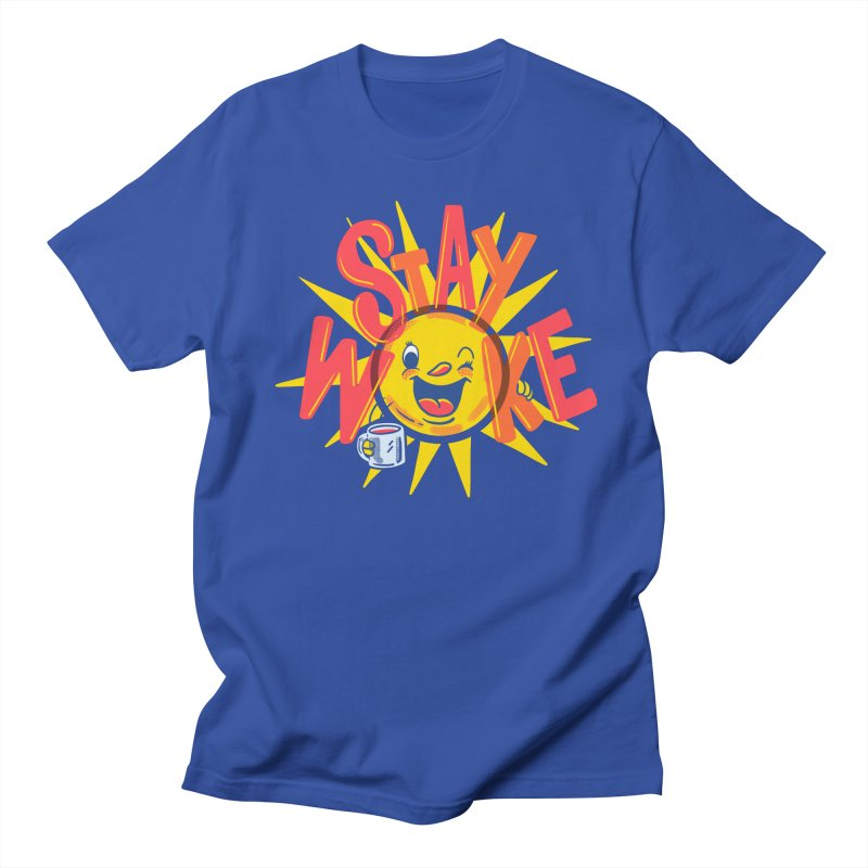 Stay Woke Men's Regular T-Shirt by Made With Awesome
