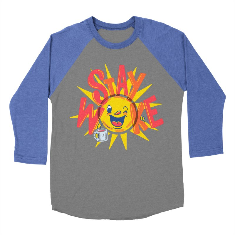 Stay Woke Men's Baseball Triblend Longsleeve T-Shirt by Made With Awesome