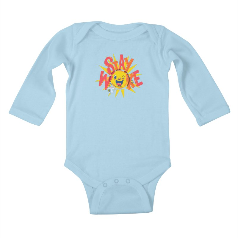 Stay Woke Kids Baby Longsleeve Bodysuit by Made With Awesome