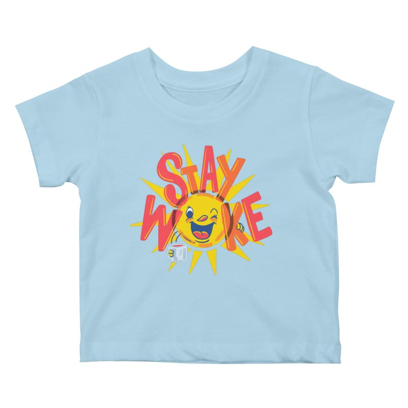 Stay Woke Kids Baby T-Shirt by Made With Awesome