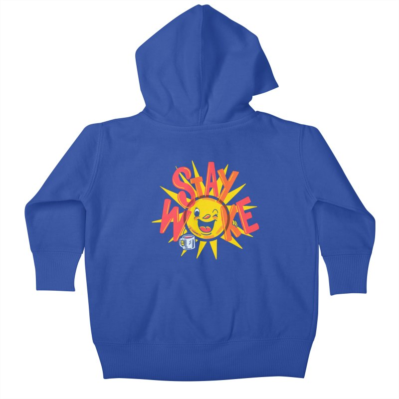 Stay Woke Kids Baby Zip-Up Hoody by Made With Awesome