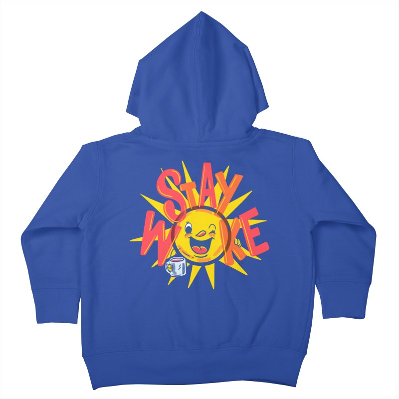 Stay Woke Kids Toddler Zip-Up Hoody by Made With Awesome