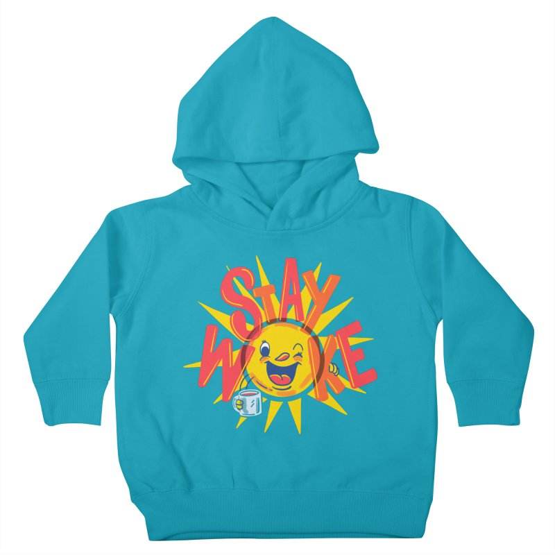 Stay Woke Kids Toddler Pullover Hoody by Made With Awesome