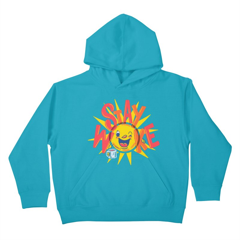 Stay Woke Kids Pullover Hoody by Made With Awesome