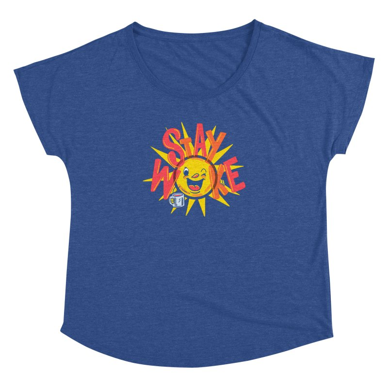 Stay Woke Women's Dolman Scoop Neck by Made With Awesome