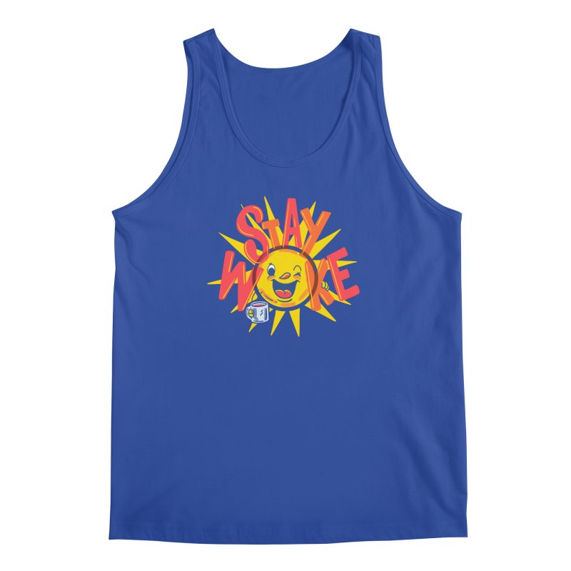 Stay Woke Men's Tank by Made With Awesome