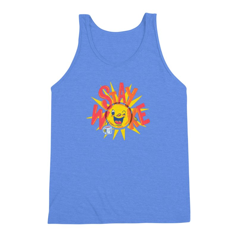 Stay Woke Men's Triblend Tank by Made With Awesome