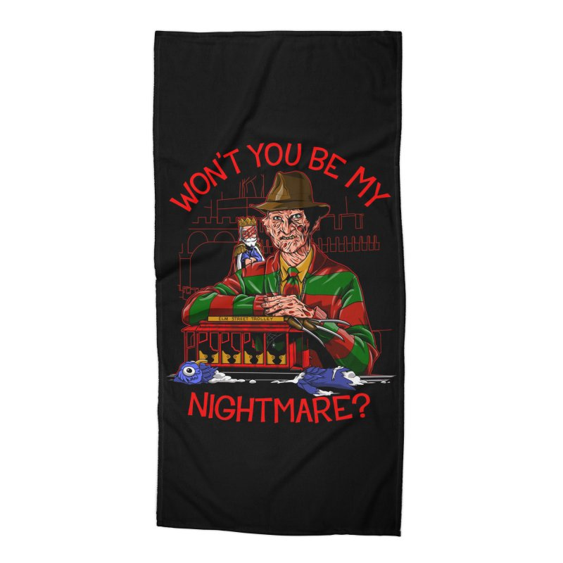 Nightmare Neighborhood Accessories Beach Towel by Made With Awesome