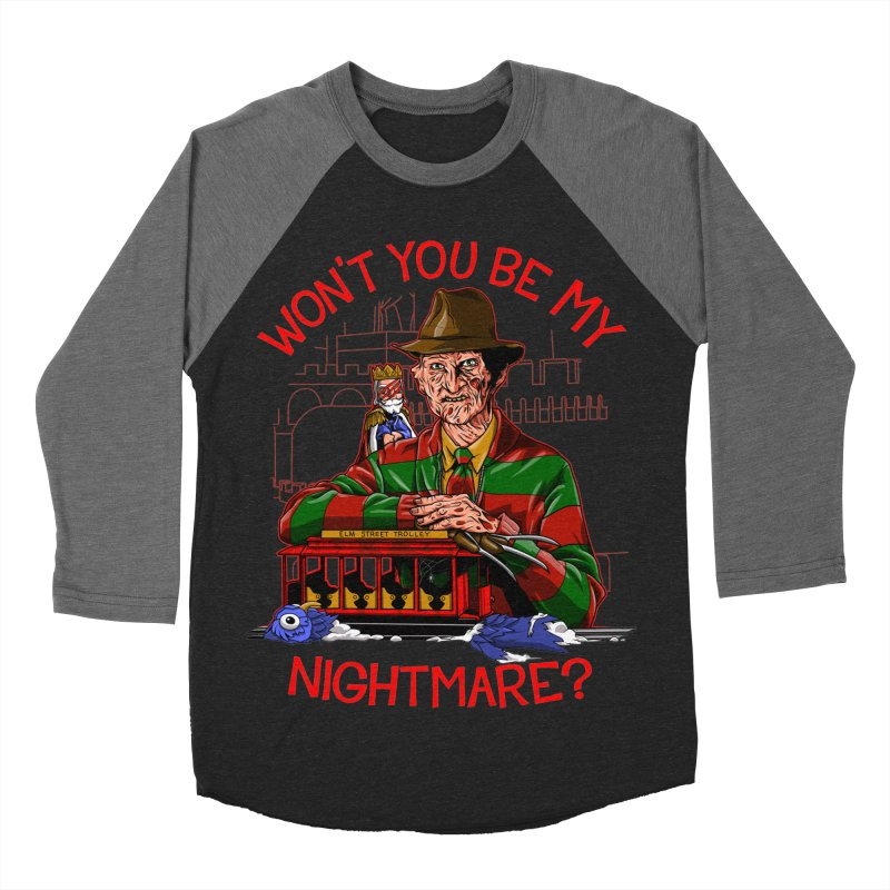 Nightmare Neighborhood Women's Baseball Triblend Longsleeve T-Shirt by Made With Awesome