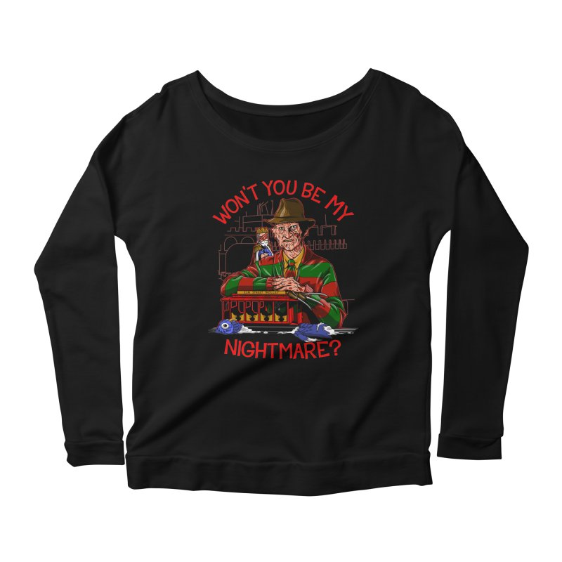 Nightmare Neighborhood Women's Scoop Neck Longsleeve T-Shirt by Made With Awesome