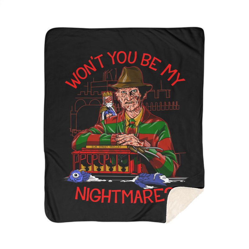 Nightmare Neighborhood Home Sherpa Blanket Blanket by Made With Awesome