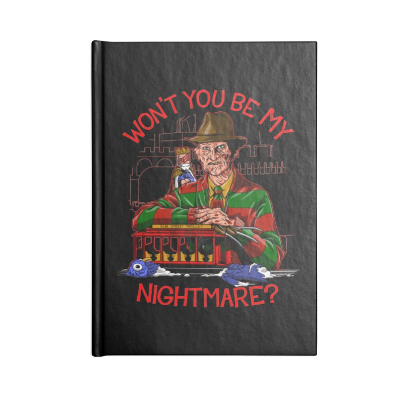Nightmare Neighborhood Accessories Lined Journal Notebook by Made With Awesome