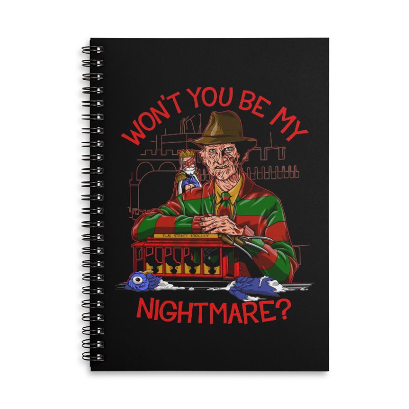 Nightmare Neighborhood Accessories Lined Spiral Notebook by Made With Awesome