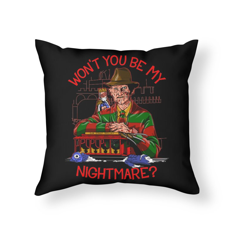 Nightmare Neighborhood Home Throw Pillow by Made With Awesome