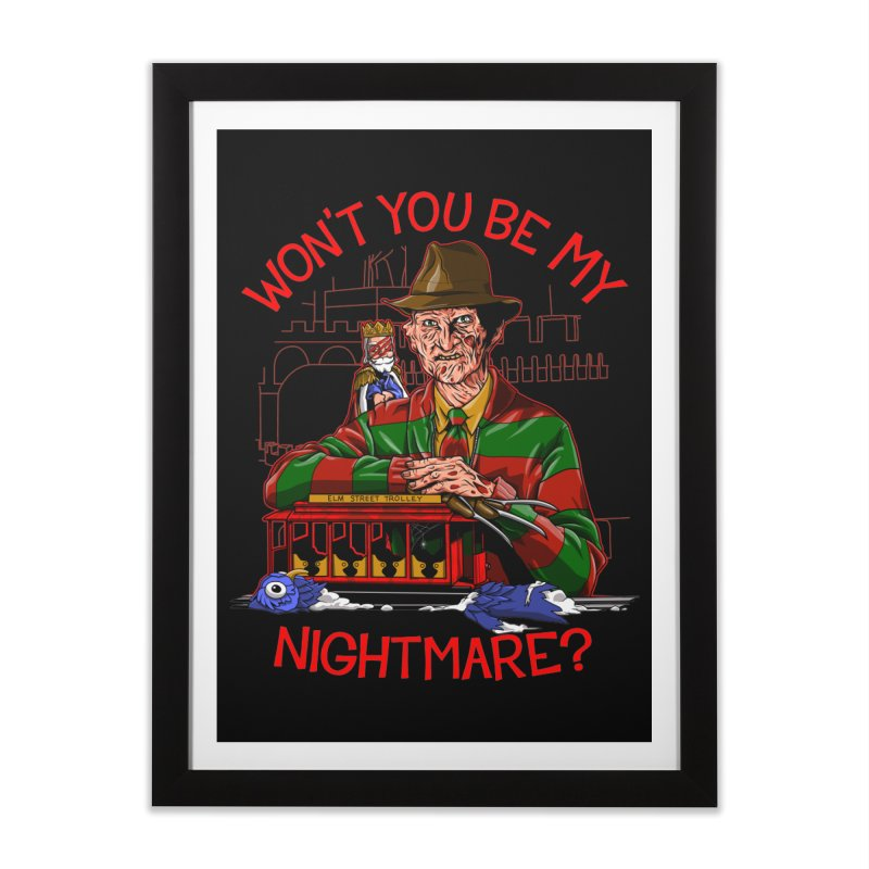 Nightmare Neighborhood Home Framed Fine Art Print by Made With Awesome