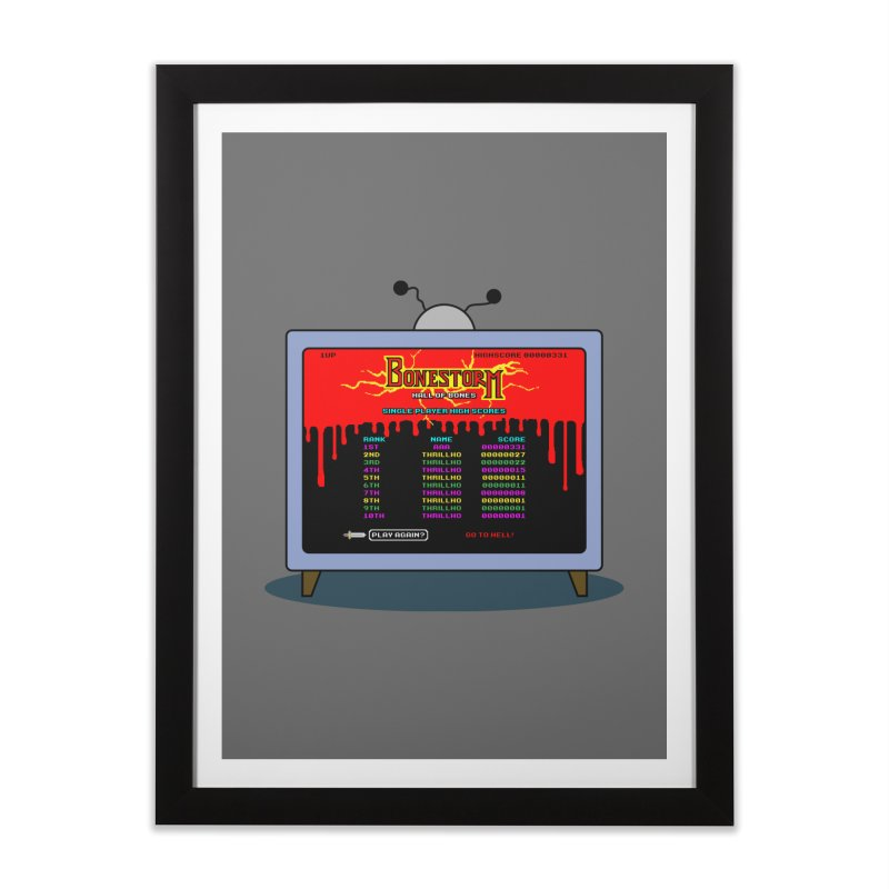THRILLHO Home Framed Fine Art Print by Made With Awesome