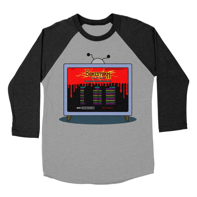 THRILLHO Men's Baseball Triblend Longsleeve T-Shirt by Made With Awesome