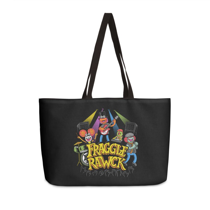 Fraggle RAWK Accessories Weekender Bag Bag by Made With Awesome