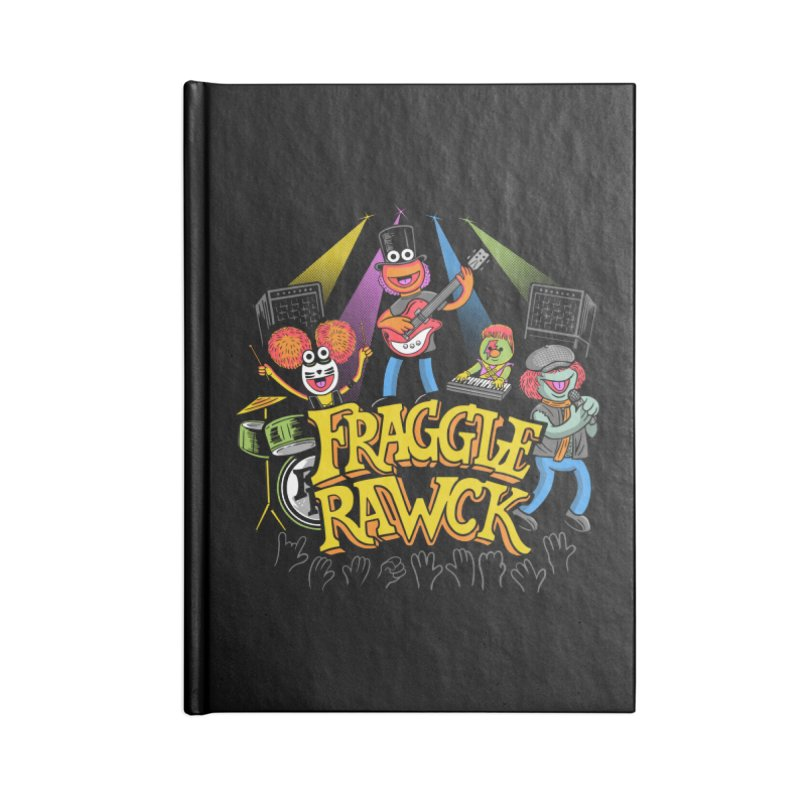 Fraggle RAWK Accessories Lined Journal Notebook by Made With Awesome