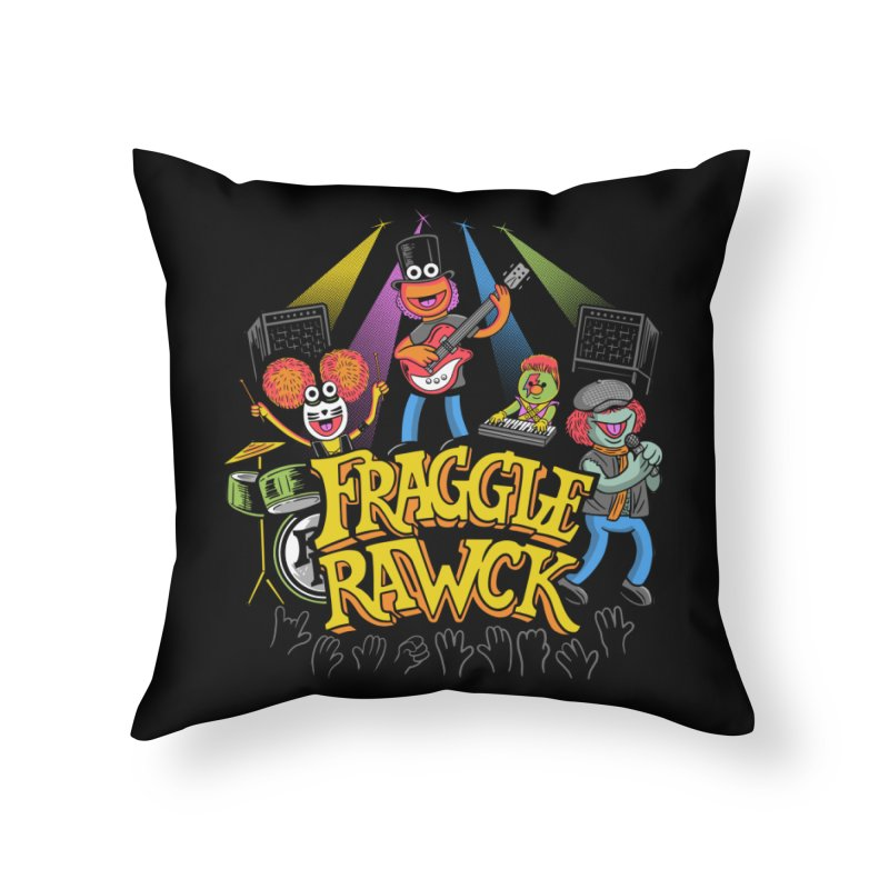 Fraggle RAWK Home Throw Pillow by Made With Awesome