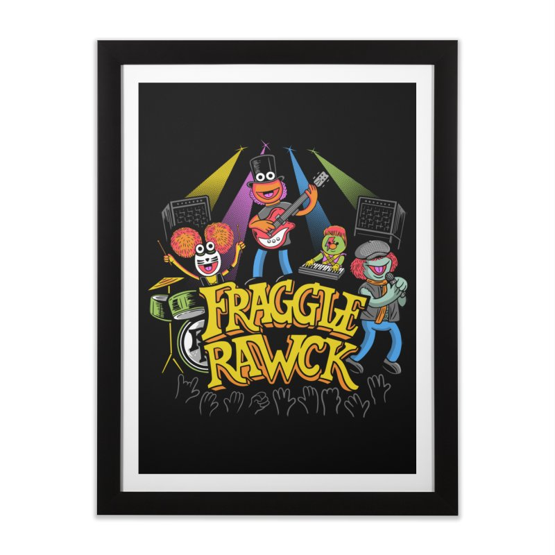 Fraggle RAWK Home Framed Fine Art Print by Made With Awesome