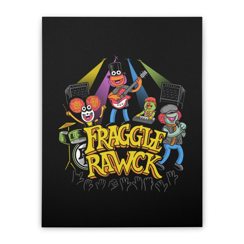 Fraggle RAWK Home Stretched Canvas by Made With Awesome